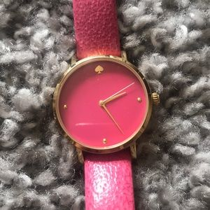 Kate Spade pink leather watch